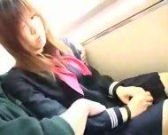 Censored: Japanese girl felt-up and fucked on a train  Asian