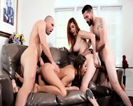 Hardcore Orgy With Two Sexy Chicks Britney Amber