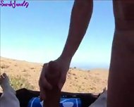 German Brunette gets an amazing outdoor fuck german brunette amazing outdoor sex fuck blowjob ride doggystyle amateur