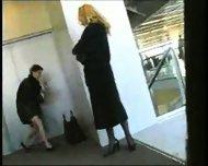 Airport-Voyeur airport voyeur masturbate milf naked public coat amateur