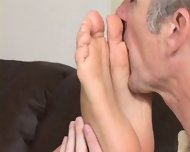 Foot sucking foot sucking amateur