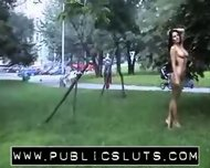 PublicSluts - Park posing Busty park posing public sluts softcore